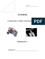 Continuously Variable Transmission CVT 1