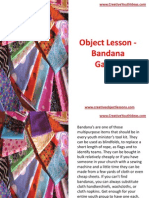 Object Lesson -  Youth Bandana Games