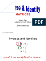 Inverse and Identity Matrices