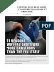 11 Motive Pentru Focuri de Gripa Sunt Mult Mai Periculoase Decât Gripa Sine