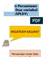 Sistem Persamaan Linier Dua Variabel (SPLDV) - Ppt Fix