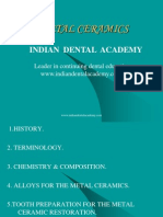Metal Ceramic / orthodontic courses by Indian dental academy
