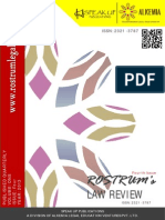 Rostrum's Law Review, Vol I, Issue IV