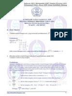Soal Dan Pembahasan OSN Matematika SMP Tingkat Provinsi 2014 (Bagian B; Uraian)