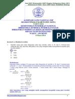 Soal Dan Pembahasan OSN Matematika SMP Tingkat Kota 2014 [Bagian a]