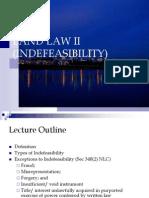 Indefeasibility Mac 2013