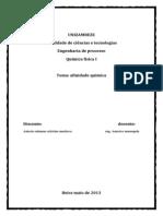 TRABALHO de Química FIS Concluido Afinidade Quimica