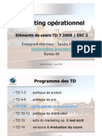 Eléments de cours Marketing Op. ESC2-TD7