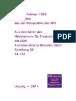 1983 Der 13 Februar 83 in Dresden aus Perspektive des MfS