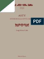Caliò - Asty Studi Sulla Città Greca