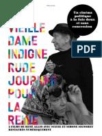 """Dossier de présentation de """"La Vielle Dame indigne"""" et """"Rude Journée pour la reine"""" de René Allio (Shellac)"""
