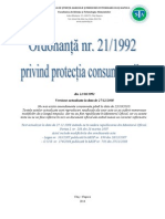 Ordonanta 21-1992 Privind Protectia Consumatorilor