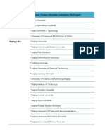 Chinese Universities List