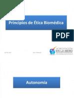 Principios de Ética Biomédica.