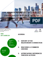 Relationship Between Built Enviroment & Public Health