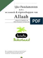 Belangrijke Fundamenten m.b.t. de Namen en Eigenschappen van Allaah - Shaykh al-'Uthaymien