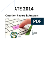 GATE 2014 Question Paper & Answers - XE