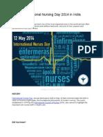 International Nursing Day 2014 in India