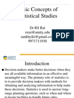 Basic Concepts of Statistical Studies