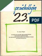 Szőnyi Magda - Jacqueline Royer Metamorfózisok Tesztjének Ismertetése