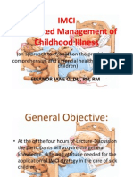 IMCI Integrated Management of Childhood Illness