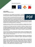 Carta Aberta Aos Arquitetos Sobre o CAU