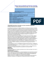 Reglamento del régimen Técnico-Sanitario de piscinas en Euskadi