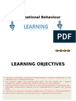 organization behavior learning