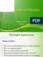 Week 1-English Phonetics and Phonology Overview