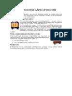 TRANSFORMADORES E AUTOTRANSFORMADORES