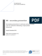 MI – Secondary Prevention