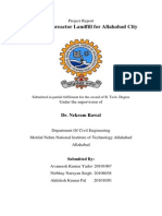 Project Report Design of Bioreactor Landfill for Allahabad City