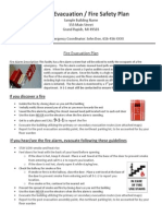 13262_Sample High-Rise Evacuation-Fire Safety Plan