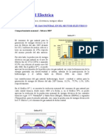 Peru Consumo gas natural