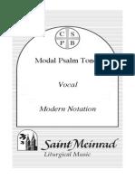 (St Meinrad) Modal Psalm Tones