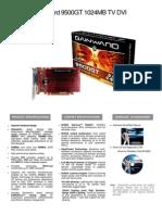 Gainward 9500GT 1024MB TV DVI