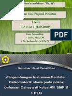 Ppt Proposal RahmiNNN