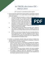 Comunicado TRICEL 2014 Elecciones