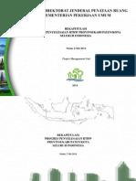 Rekapitulasi Penyelesaian RTRW Provinsi/Kabupaten/Kota