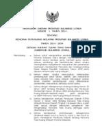 Peraturan Daerah Provinsi Sulawesi Utara Nomor 1 Tahun 2014 tentang Rencana Tata Ruang Wilayah Provinsi Sulawesi Utara Tahun 2014-2034