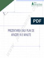 Prezentarea Unui Plan de Afaceri in 5 Minute