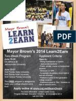2014 Learn2Earn FLYER