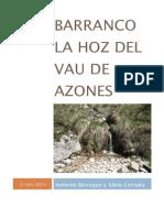 Barranco La Hoz Del Vau de Azones