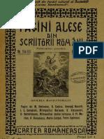 Pagini Alese Din Scriitori Romani