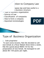 An Introduction to Company Law