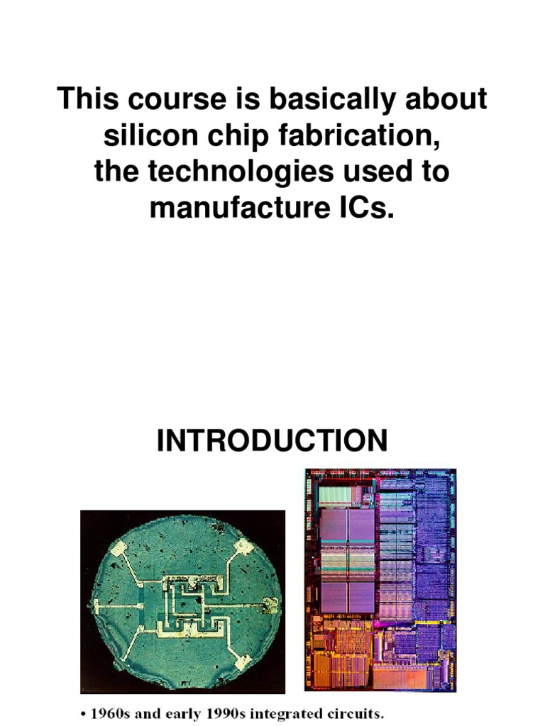 lecture 1 ic fabrication technology history integrated circuit cmos rh scribd com