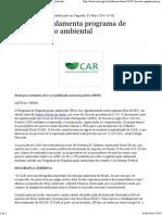 Decreto Regulamenta Programa de Regularização Ambiental