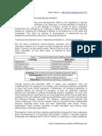 HRM Training & Development
