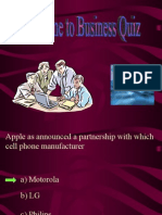 Business quiz MBA 1