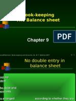Chapter 9 Book-keeping Format Proper Balance Sheet